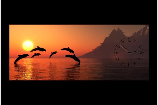 Картина-часы Дельфины